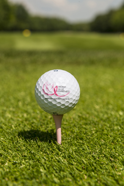 Pink Ribbon Golfball